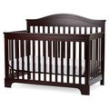L.A. BABY Solano Beach 4 in I Convertible Crib with Innerspring Mattress