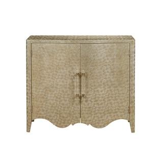 Opus Goldtone Wood Bar Cabinet