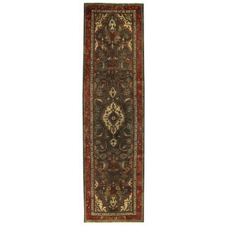 Herat Oriental Persian Hand-knotted Tribal Hamadan Wool Runner (3'2 x 11'10)