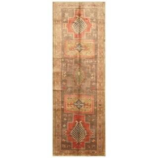 Handmade Herat Oriental Persian Tribal Hamadan Wool Runner - 3'7 x 10'6 (Iran)