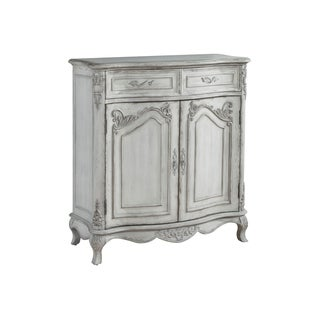 Rebecca White Wood Wine Cabinet