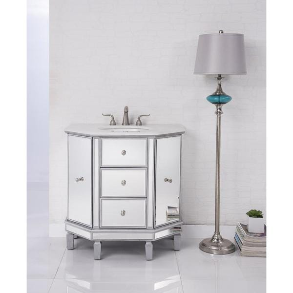 Elegant Lighting Nouveau 35 Inch Single Bathroom Vanity Free