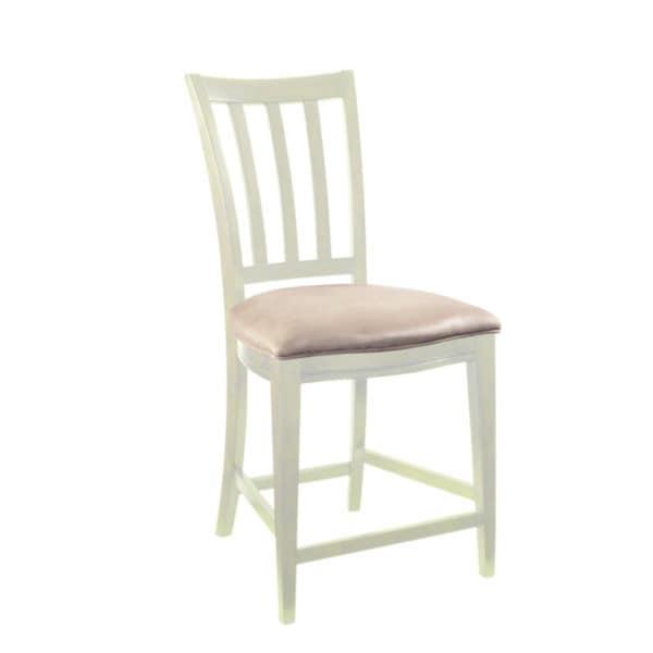 Nova White-finish Fabric Gathering Chair