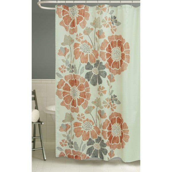 orange floral shower curtain. Peyton Floral Shower Curtain By Bacova  Free Shipping On Orders