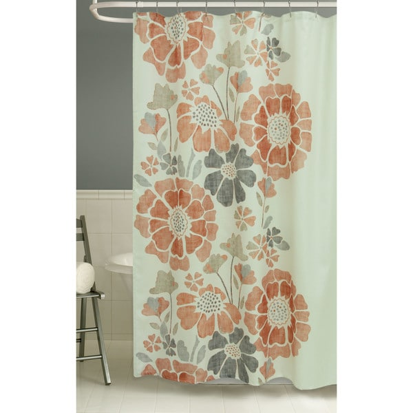 Peyton Floral Shower Curtain by Bacova
