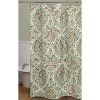 orange and brown shower curtain. Peyton Damask Shower Curtain by Bacova Orange Curtains For Less  Overstock com Vibrant Fabric