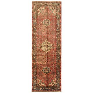 Handmade Hamadan Wool Runner (Iran) - 3'2 x 9'8