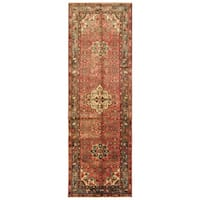 Handmade Herat Oriental Persian Tribal Hamadan Wool Runner (Iran) - 3'2 x 9'8
