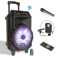 Pyle Portable PA Bluetooth Speaker and Microphone System