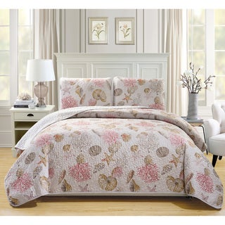 Fashion Street Seaside Quilted 3-piece Bedspread Set