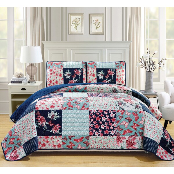 Fashion Street Aubury Quilted 3-piece Bedspread Set
