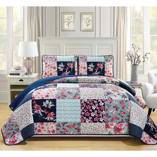 Fashion Street Aubury Quilted 3-piece Bedspread Set