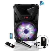 Pyle PPHP126WMU Portable PA Speaker & Microphone System, Bluetooth Wireless Streaming, Built-in Rechargeable Battery