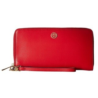 Tory Burch Parker Zip Cherry Apple Continental Wallet