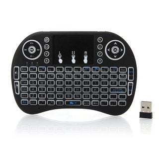 MINI i8 2.4GHz 3-color Backlight Wireless Keyboard with Touchpad Black