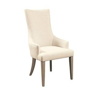 Zona White Wood Arm Chair