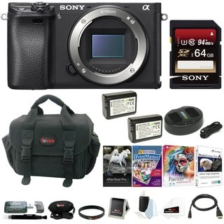 Sony a6300 Mirrorless Digital Camera Body with 64GB SD Card and Battery