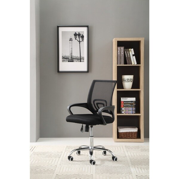 Hodedah Mesh Mid-Back Office Chair with Chrome Base
