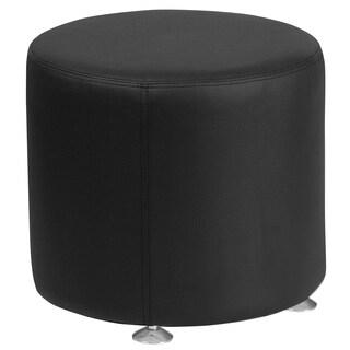 HERCULES Alon Series Leather 18'' Round Ottoman