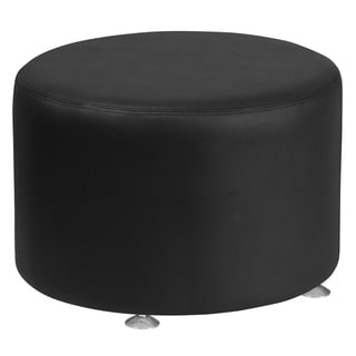 Leather 24'' Round Ottoman