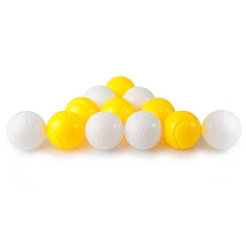 Dimple DC12357 Power-Pro Kids Plastic Pitching Machine Balls (12 pack) - Yellow/White
