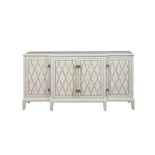 Eloquence White Wood 4-door Credenza