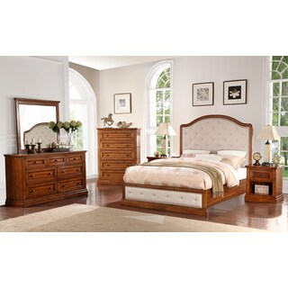 Abbyson Augusta Acacia Wood 6-piece Bedroom Set