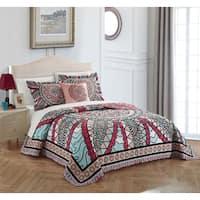 Chic Home 4-piece Leotie Cotton Reversible Quilt Set