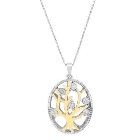 Marabela Sterling Silver Diamond Tree of Life