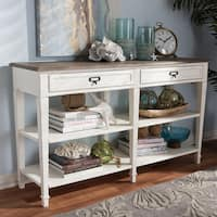 The Gray Barn Heart and Soil White Console Table