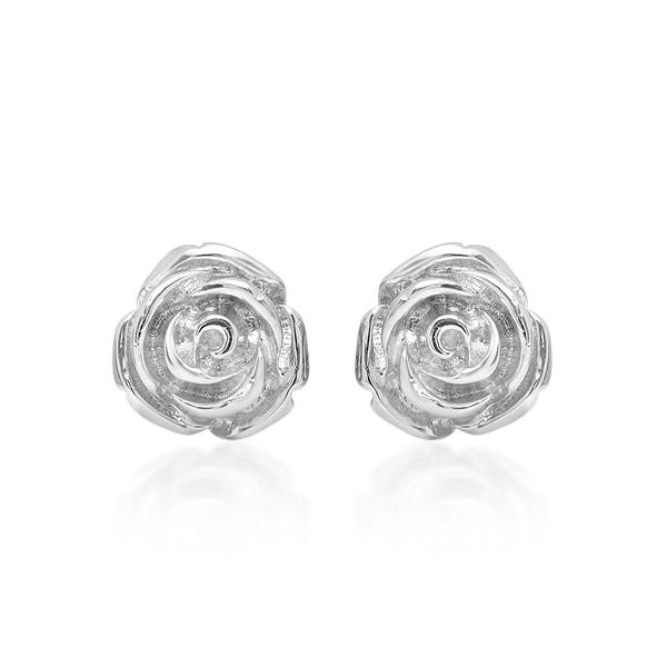 Marabela Sterling Silver Flower Earring Studs