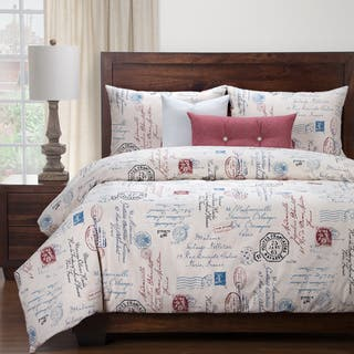 Siscovers Postscript Blue Luxury Duvet Cover and Duvet Insert Set|https://ak1.ostkcdn.com/images/products/16068056/P22454616.jpg?impolicy=medium