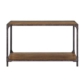 Irwin Brown Wood/Metal Sofa Table