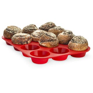 Born Baker Set of Two - Non-stick 12 Cup Silicone Cupcake Muffin Pan Baking Tray|https://ak1.ostkcdn.com/images/products/16068297/P22454755.jpg?impolicy=medium
