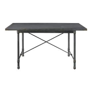Industrial Grey-finish Metal Top Dining Table