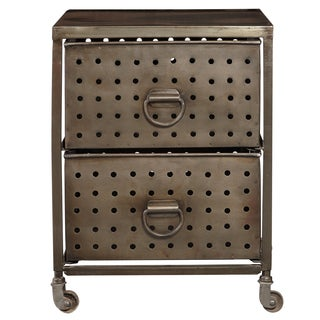 Perforated Metal Two Drawer Cart