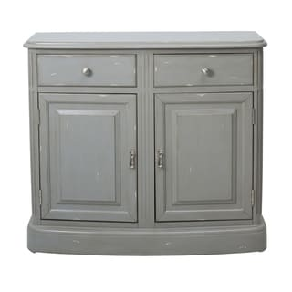 Weathered Grey Wood Traditional Accent Chest