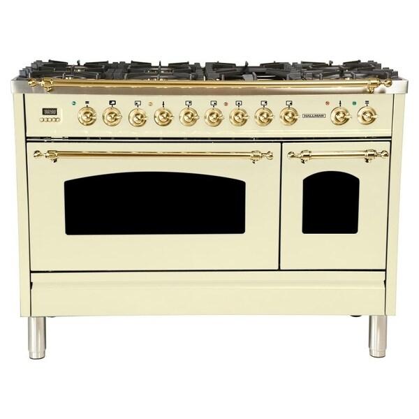 Shop 48 In 5 0 Cu Ft Double Oven Dual Fuel Italian