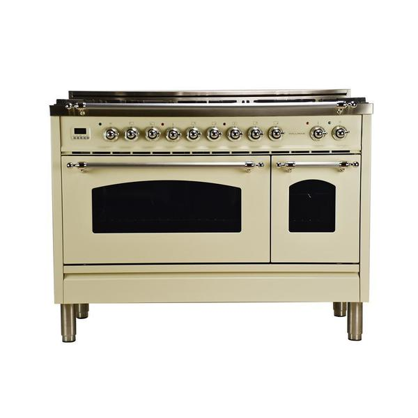 Double Oven Griddle ~ In cu ft double oven dual fuel italian range
