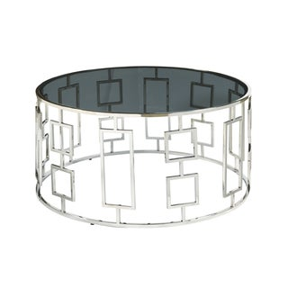 Bangle Stainless Steel Glass Cocktail Table
