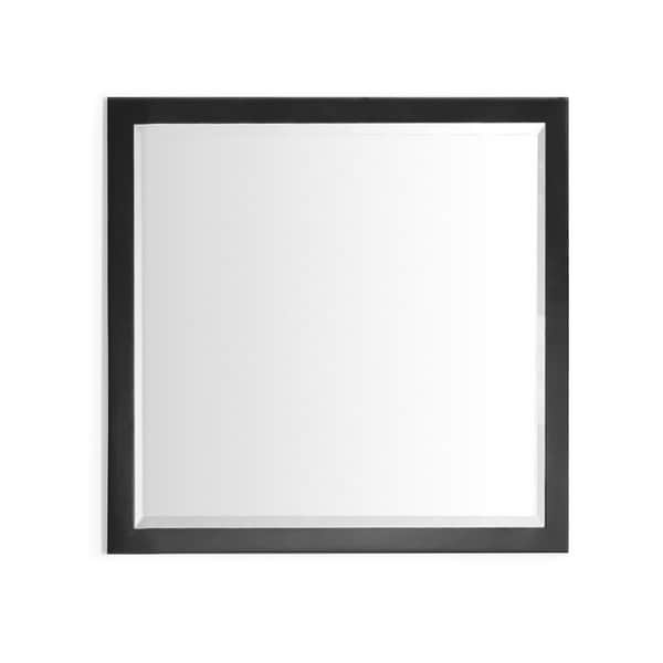 Infurniture 34 Inch Contemporary Style Bevel Edge Wall Mirror