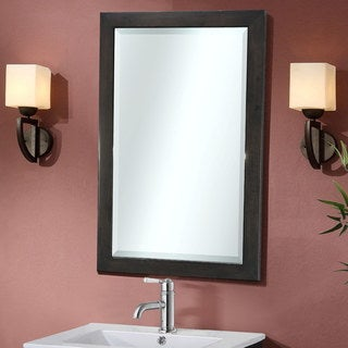 InFurniture Contemporary-style 22-inch Bevel-edge Wall Mirror