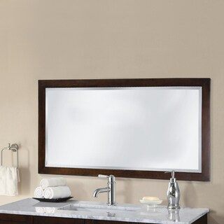 Infurniture 48 inch Contemporary-style Bevel-edge Wall Mirror