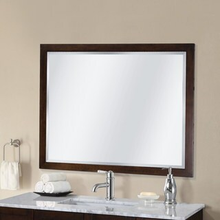 Infurniture 42 inch Contemporary-style Bevel-edge Wall Mirror