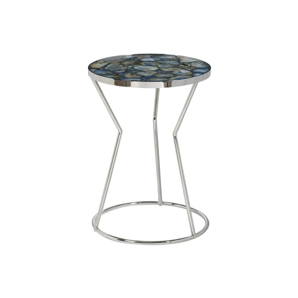 Millard Blue Natural Stone Side Table