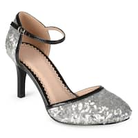 Journee Collection Women's 'Alison' Faux Leather Piping Sequin Mary Janes