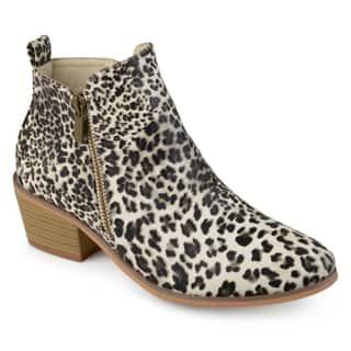 Journee Collection Women's 'Rebel' Side Zip Stacked Heel Booties|https://ak1.ostkcdn.com/images/products/16068749/P22455162.jpg?impolicy=medium
