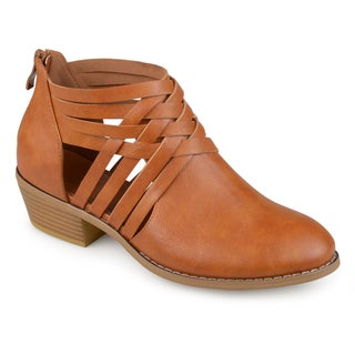 Journee Collection Women's 'Thelma' Faux Leather Criss Cross Booties