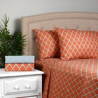 Journee Home 'Cleo' 4pc Microfiber Trellis Sheet Set