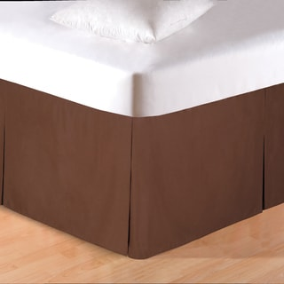 Solid Brown Platform Bed Skirt - Thumbnail 0